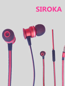 3.5mm in-Ear Earphone Headset Headphone for Samsung Phone MP3 Red pictures & photos