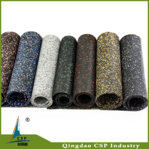 Indoor Use Elastic Rubber Floor Mat with Colorful EPDM Speckles pictures & photos