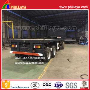 4 Axles 7.5m Cargo-Transporting Draw Bar Flatbed Trailer pictures & photos