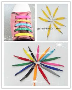 Good Quality Latex Elastic Flat Shoelace U Lace pictures & photos