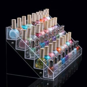 5 Tiers Clear Acrylic Display Case Tattoo Ink Cosmetic Organizer Makeup