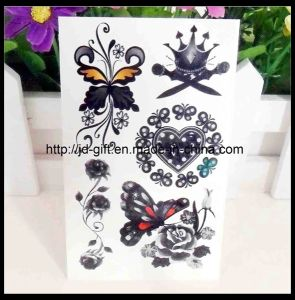 Black Butterfly Non-Toxic Temporary Adult Skin Sexy Tattoo Stickers pictures & photos
