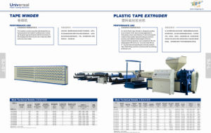 Catelogue Plastic Tape Extruder pictures & photos