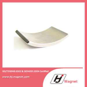Super Power Customized Need N50 Arc Neodymium Segment Coating Nickle Magnet for Motors pictures & photos