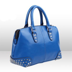 Stock Lots Colors Beaded PU Leather Fashion Woman Bag (XD140143)