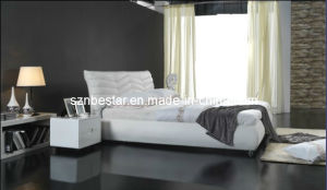 Leather Soft Bed, Bedroom Furniture pictures & photos