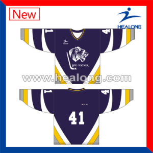 Healong Designer Dye Sublimated Printing Customized Hockey Jerseys pictures & photos