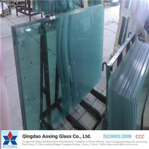 Sheet/Flat Clear Toughened/Tempered Glass for Building/Curtain Wall pictures & photos
