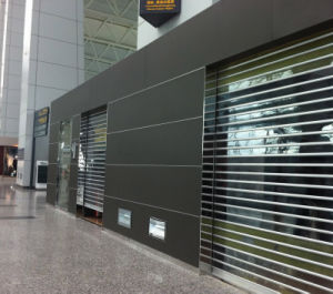 Transparent Polycarbonate Roller Shutter Door (PC7) pictures & photos