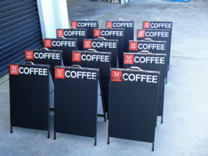 Giant Pushbikes Brisbane Customised Signage Corflute Insertable Banners Metal a Frame/ Real Estate Sign Sandwich Board 600X450mm Double Side pictures & photos