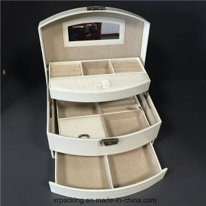 Jewelry Case with Mirror and Storage Drawers