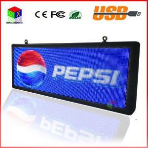 P5 SMD3528 LED Display Panel Outdoor Advertising RGB 7 Color Advertisement Size: 103cmx39cm (40′′x15′′) LED Sign pictures & photos