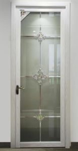 Cheap Aluminum Casement Door with Tinted Glass for Bathroom/Kitchen (ACD-013) pictures & photos