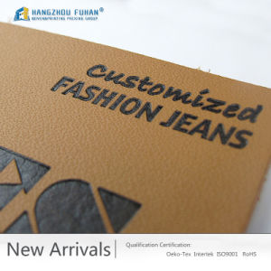 Customized Emboss Jacket Leather Label pictures & photos