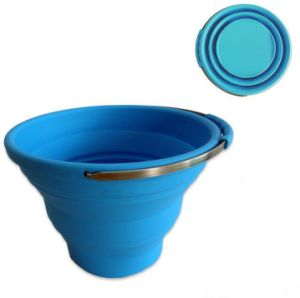 10L out Door Pack Away Silicone Collapsible Bucket pictures & photos