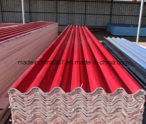 Red Color Magnesium Corrugated Roof Tile pictures & photos