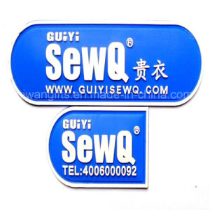 Custom Soft PVC Rubber Garment Badge pictures & photos