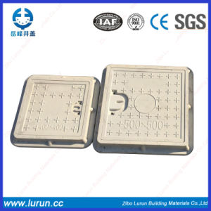 600X600mm C/O 450X450 Rubber Fiberglass Manhole Cover with Frame pictures & photos