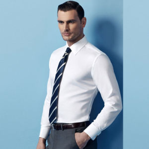 Latest Design White Cotton Man Dress Shirt pictures & photos