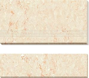 Double Loaded Polished Porcelain Stair-Tiles (AJ-01) pictures & photos