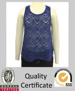 Ladies Knitted Fancy Pointelle Tank Sweater