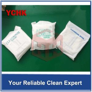 Ultrasonic Sealed Edge Microfiber Industrial Disposable Dustless Cloth Cleaning Wipers pictures & photos
