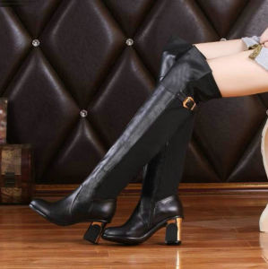 2015 Over Knee High Fashion Women Leather Boots (517908)