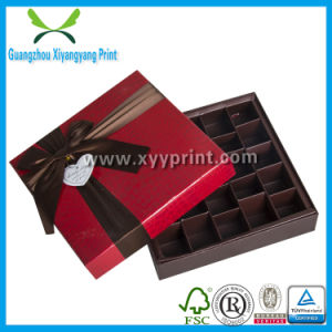 Custom Paper Chocolate Candy Box Packaging with Ribbon pictures & photos