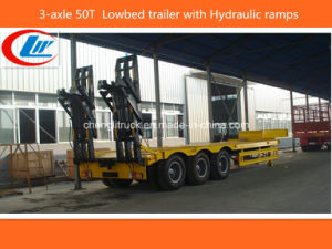 Heavy Duty 3-Axle 50ton-60ton Lowbed Truck Trailer pictures & photos