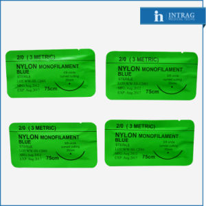 Surgical Nylon (Non-Absorbable) Suture USP 1/0# pictures & photos