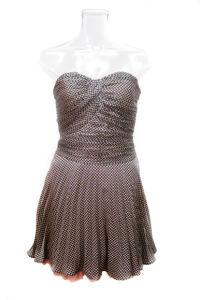 Sunshine Pleating Strapless Women Party Dress (EF D8929)