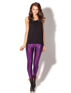 2017 Hot Fashion Colourful Elastic Shiny Scale Legging for Women pictures & photos