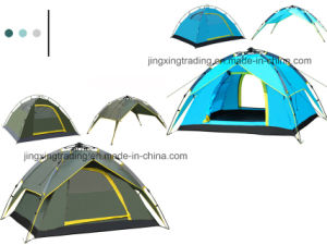Fashionable Three-Use Double-Skin Automatic Camp Tent for 3 - 4 Persons (JX-CT023) pictures & photos