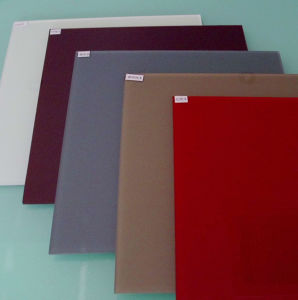 4mm Cappuccino Painted Glass for Decorating pictures & photos