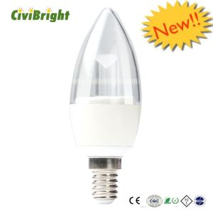 Die-Casting Aluminum LED Candle Bulb E14 with Ce RoHS pictures & photos