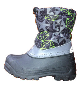 TPR Sole Kids Snow Boots pictures & photos
