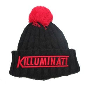 Wholesale Top Quality Acrylic Fabric Custom Knitted Beanies pictures & photos