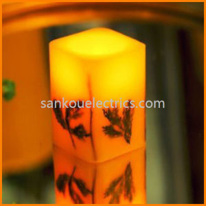 Dried Flower Candle/Flameless Candle with Cutomized Pattern