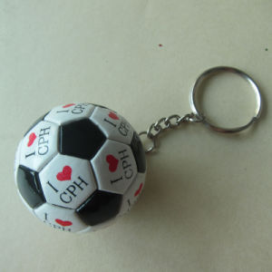 Promotion Plastic Logo Printed Soccer Ball Keychain pictures & photos
