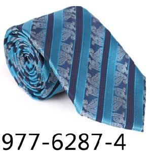 New Hot Selling Fashionable Stripe Paisley Man Tie 6287-4 pictures & photos