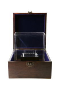 Walnut Wooden Trophy Display Box with Acrylic Cover pictures & photos