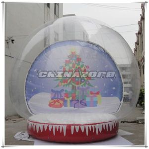 Christmas Tree Backdrop Inflatable Snow Globe Inflatable Christmas Decoration