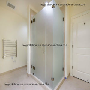 CE/as Flat/Bent Tempered Glass Shower Panel (LWY-TG37)