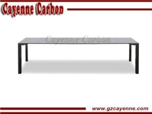 Carbon Fiber Long Meeting Table with Aluminum Legs