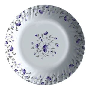 Wholesale Online 10 Inch Melamine Wave Edged Flower Round Plate pictures & photos