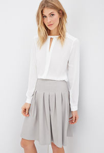 OEM High Quality Causal According Ol Ladies Pleated Skirt pictures & photos