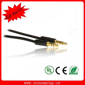 Gold Plated 3.5mm Stereo 4 Pole Aux Auxiliary Audio Cable for iPhone pictures & photos