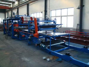 Automatic Color Steel Sandwich Panel Production Line pictures & photos