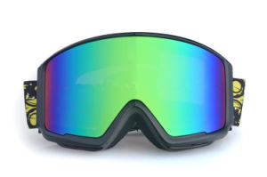 Dark Mirrored PC Anti Impact Polarized Goggles for Skiing pictures & photos