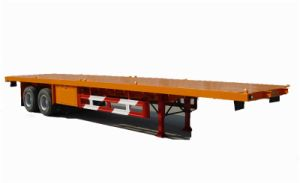 CCC ISO 3-Axles 40ft Flatbed Container Truck Semi Trailer pictures & photos